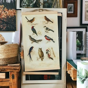 birds - board on canvas