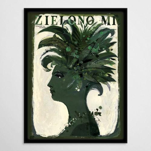 Zielono Mi Kobieta 50x70 Cm
